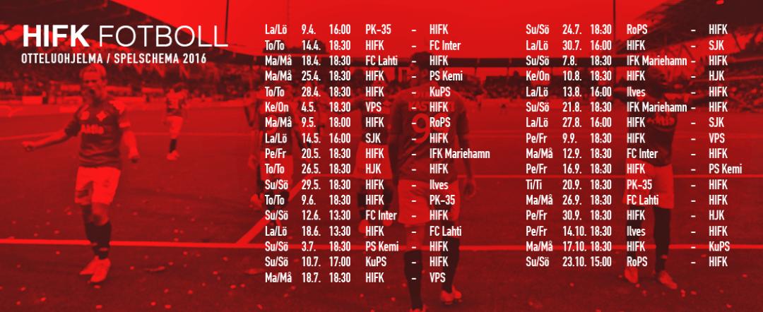 Kauden ensimmäinen kotiottelu: HIFK - FC Inter torstaina 14.4. kello 18.30 Sonera Stadiumilla
