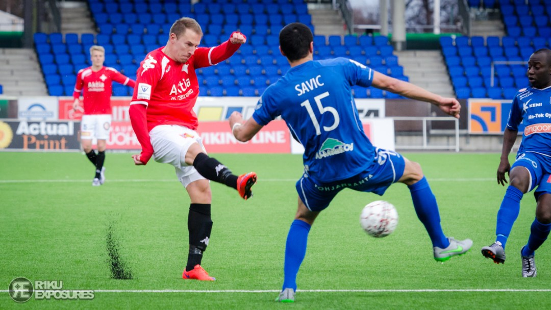 HELSINKI, FINLAND 2016-04-25. Veikkausliiga: HIFK - PS Kemi at Sonera Stadium in Helsinki, Finland. (Photo: Riku Laukkanen/R1ku Exposures)