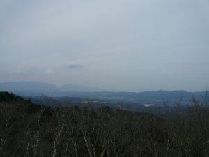 高城山展望台から奈良方面を望む