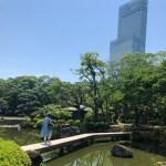 【てんしば】超穴場スポット!日本庭園から見るハルカス!