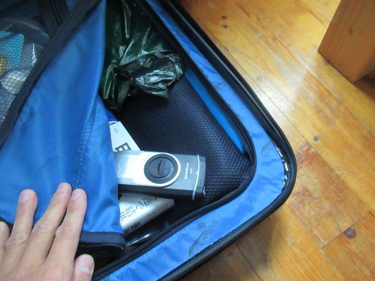 ブラウンM90モバイルシェーバー:スーツケースの中に入れても全然かさばらない!