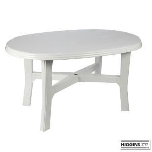 White Garden Table Oval 5 foot