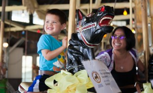 Doug Kerner participates in National Carousel Day