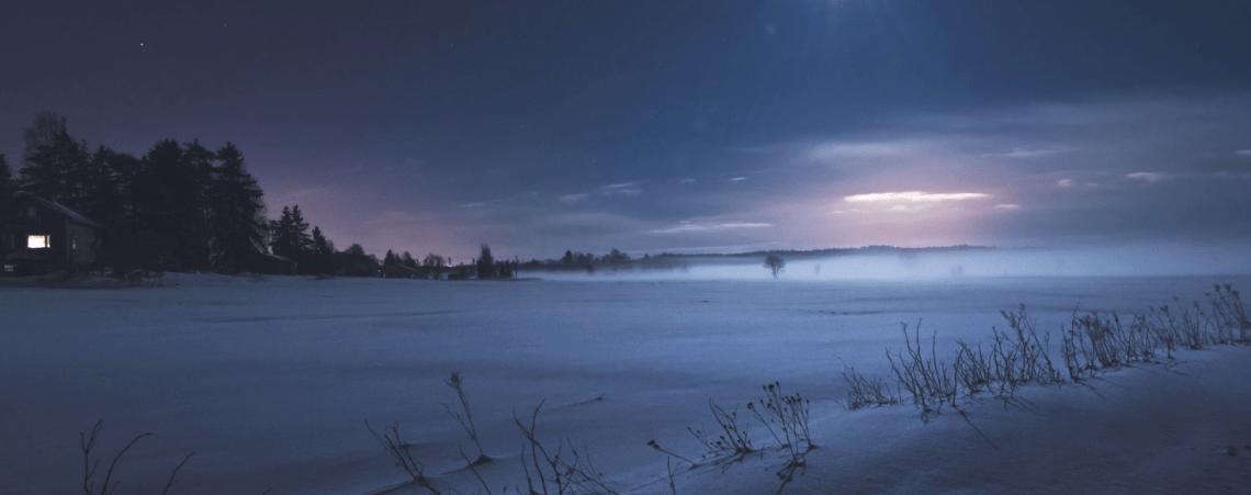 La région de Gouriev en hiver