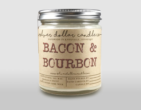 Bacon & Bourbon Candle from Silver Dollar Candle Co.