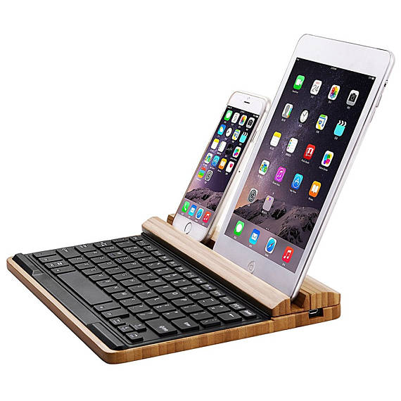 Bamboo Bluetooth Keyboard from Witty Novelty