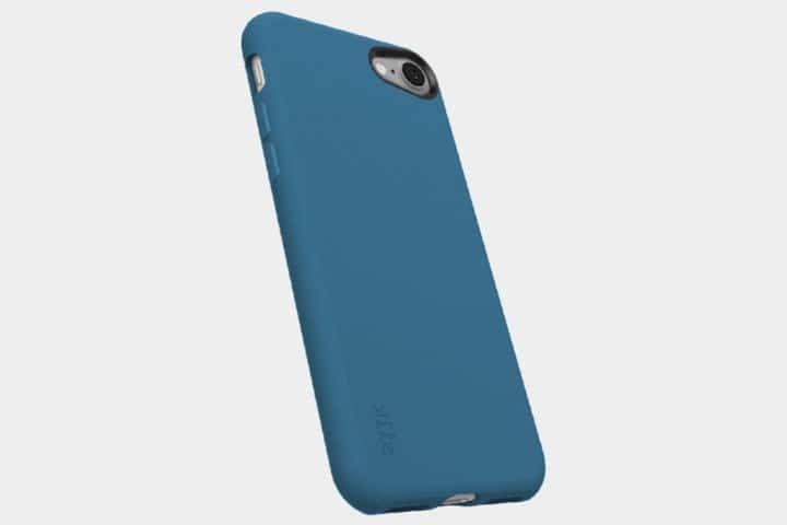coque iphone 8 en soie bleue
