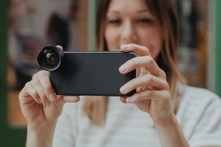 Coque ultra fine pour iphone 8 plus avec zoom
