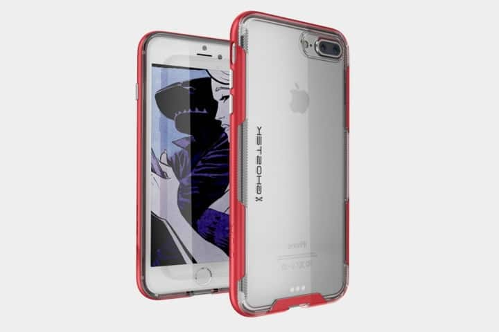 coque transparente rose iphone 8 plus