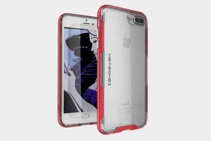 coque transparente rose iphone 8 plus