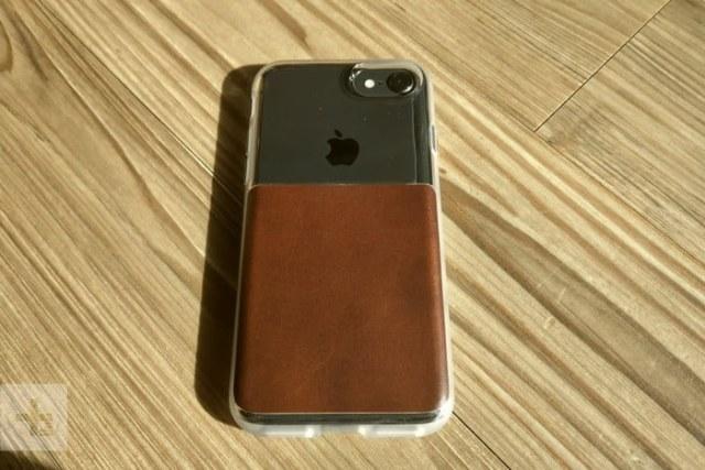 coque transparente en cuir maron iphone 8