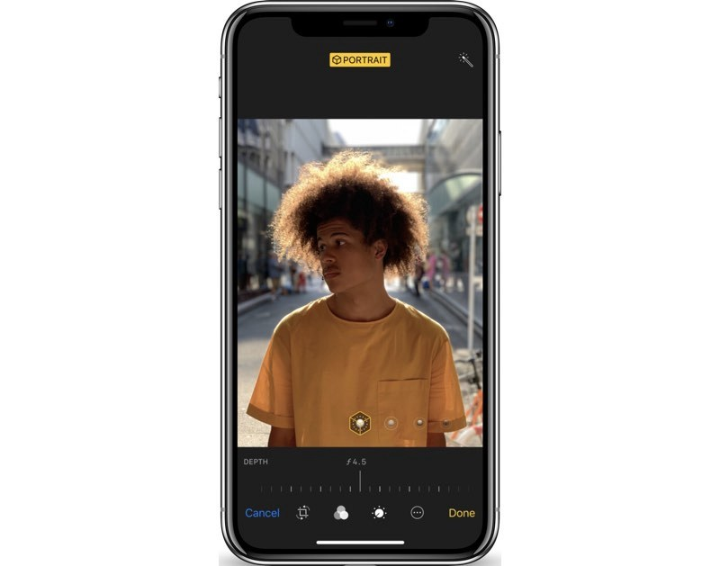 iphone xs depth control