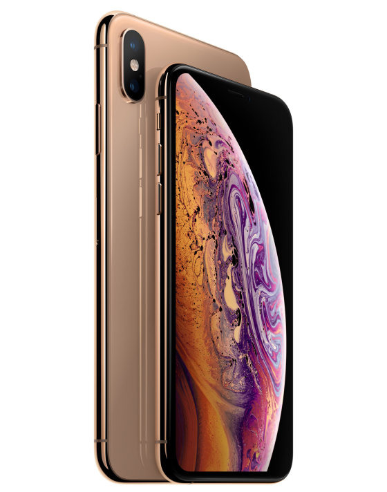 modèle rose gold de l'iphone xs max