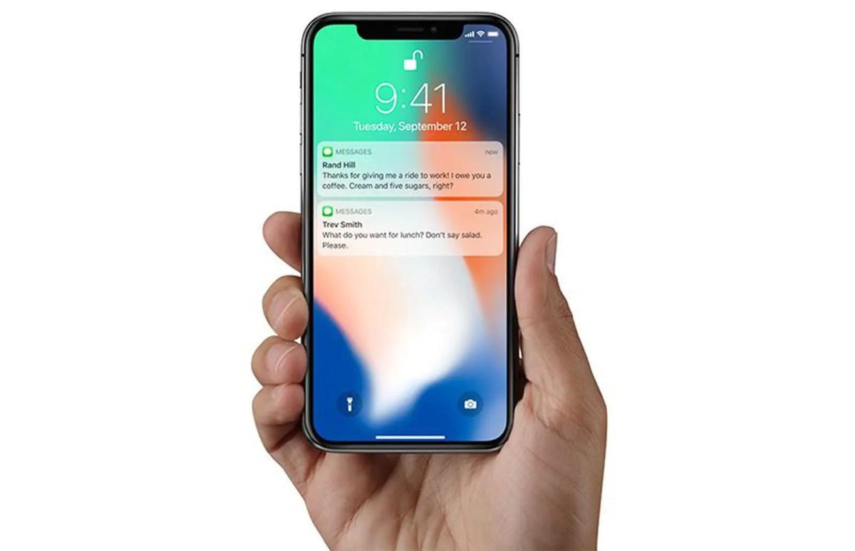 Message débloqué avec Face ID