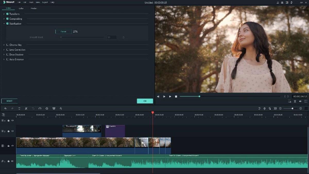 filmora video editor interface
