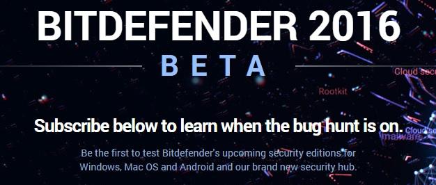Bitdefender 2016 beta