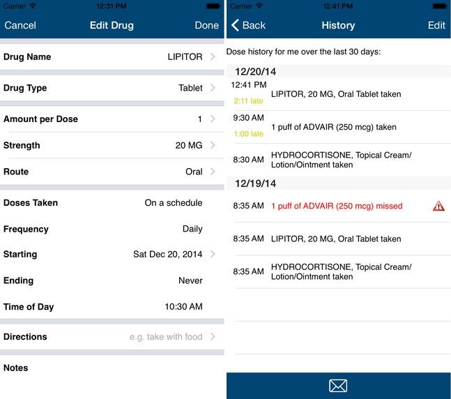 Dosecast app - 2