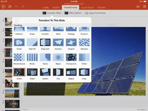 Microsoft PowerPoint iPad 2