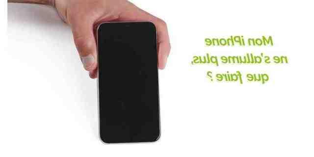 Comment allumer un iPhone 5s qui s'allume plus ?
