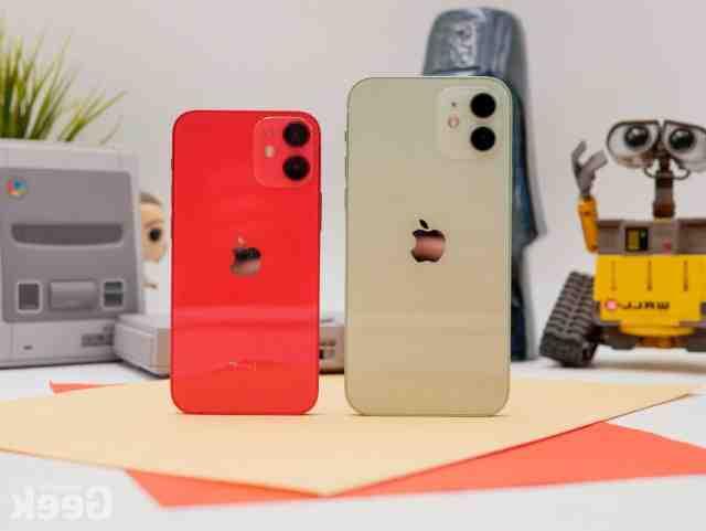 Comparatif des tailles pour l'iPhone 12 mini