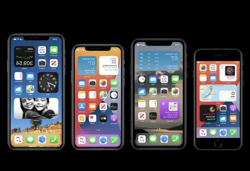 Écran d'accueil de l'Iphone 12 pro max