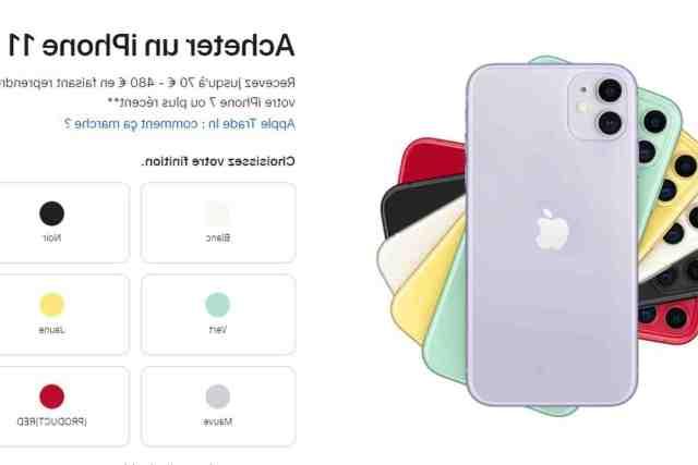 Quel est le prix actuel de l'iPhone 11 ?