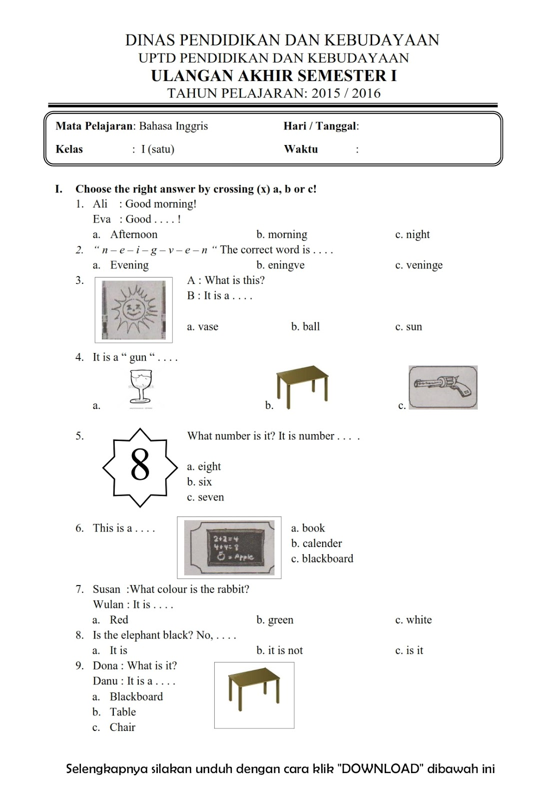 Worksheet Bahasa Indonesia Kelas 2 Printable Worksheets And Activities For Teachers Parents Tutors And Homeschool Families