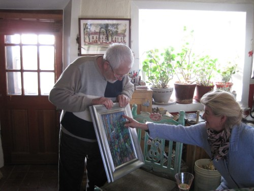 bill showing his painting