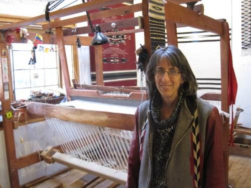 lisa at her loom