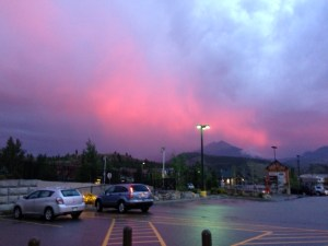 sunset, Dillon, CO