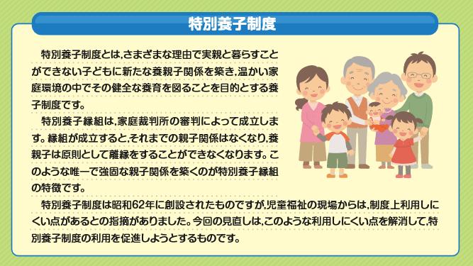 令和2年4月1日に改正された「特別養子縁組」という制度