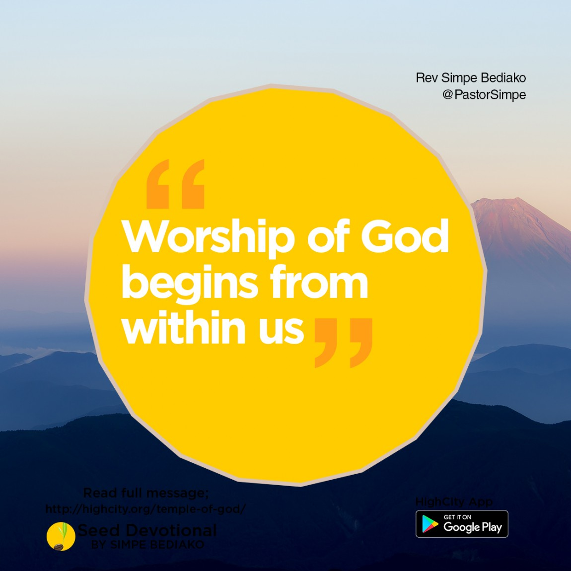 You are the Temple of God