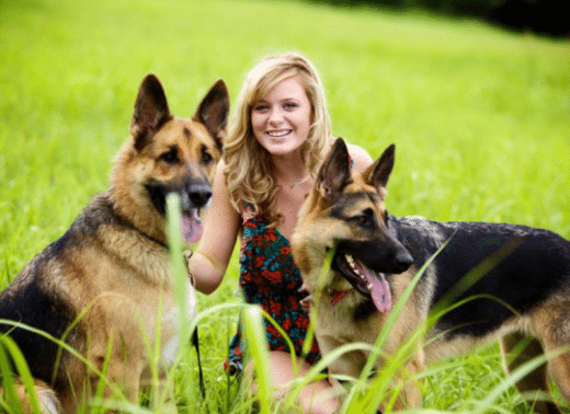 Women and Protection Dogs
