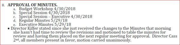 2018-6-25 LMRFD minutes excerpt