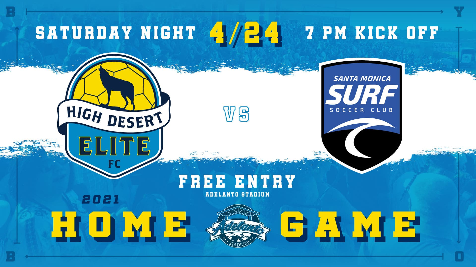 High Desert Elite face Santa Monica Surf SC this Saturday 7pm at Adelanto Stadium