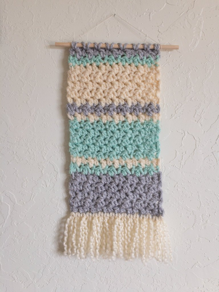 crochet wall hanging