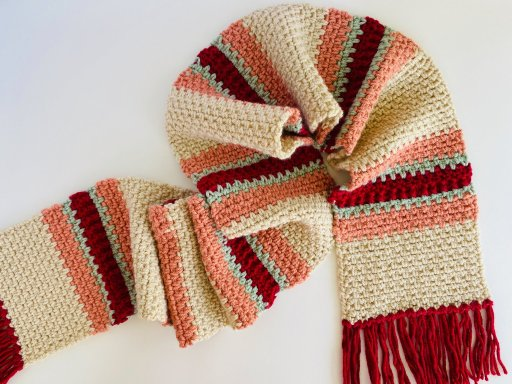 a crochet scarf
