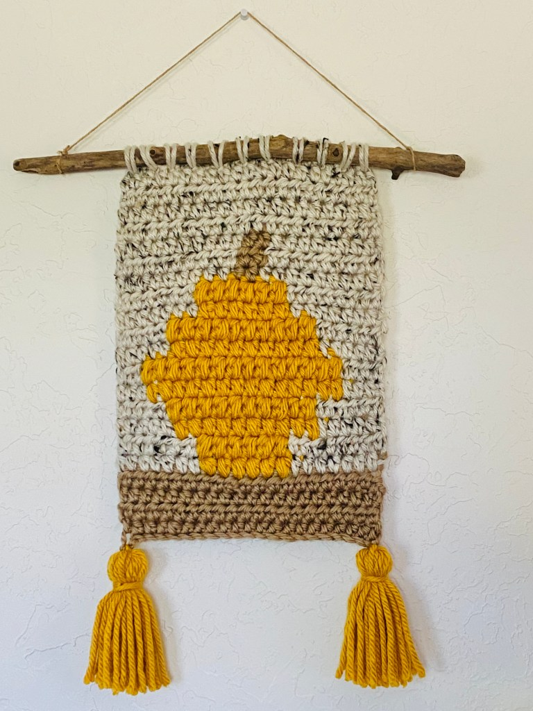 pumpkin spice wall hanging