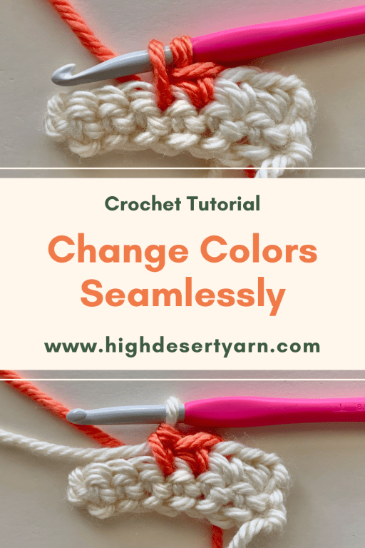 change colors seamlessly in crochet