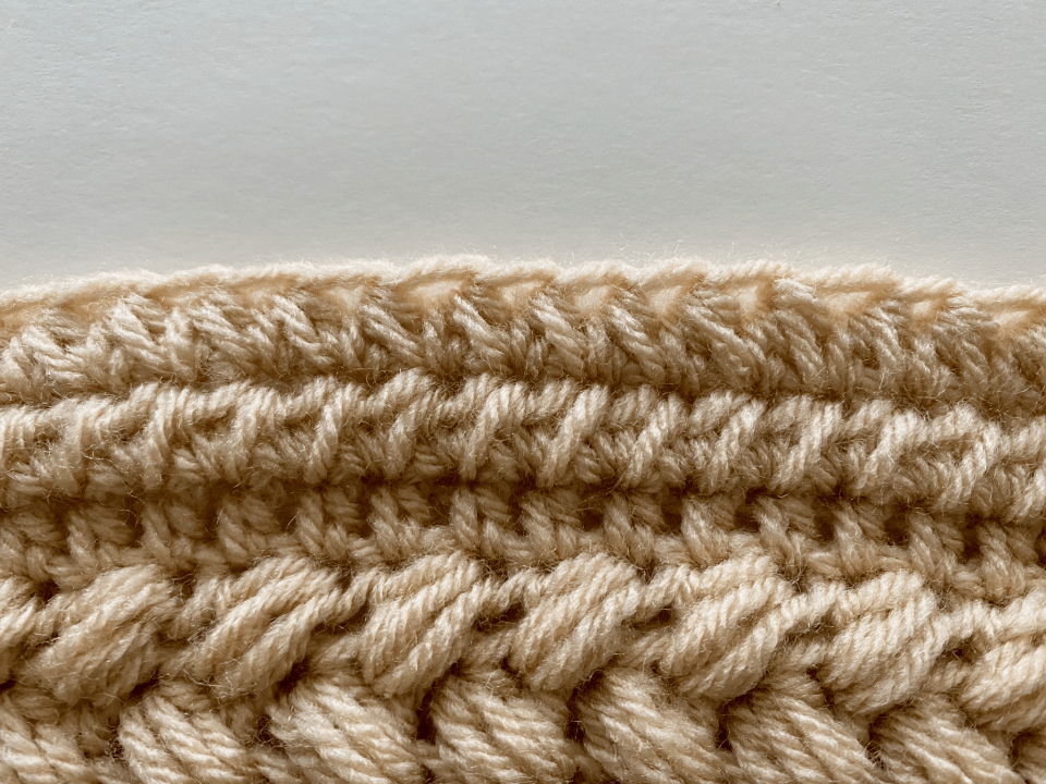 paired half double crochet stitch