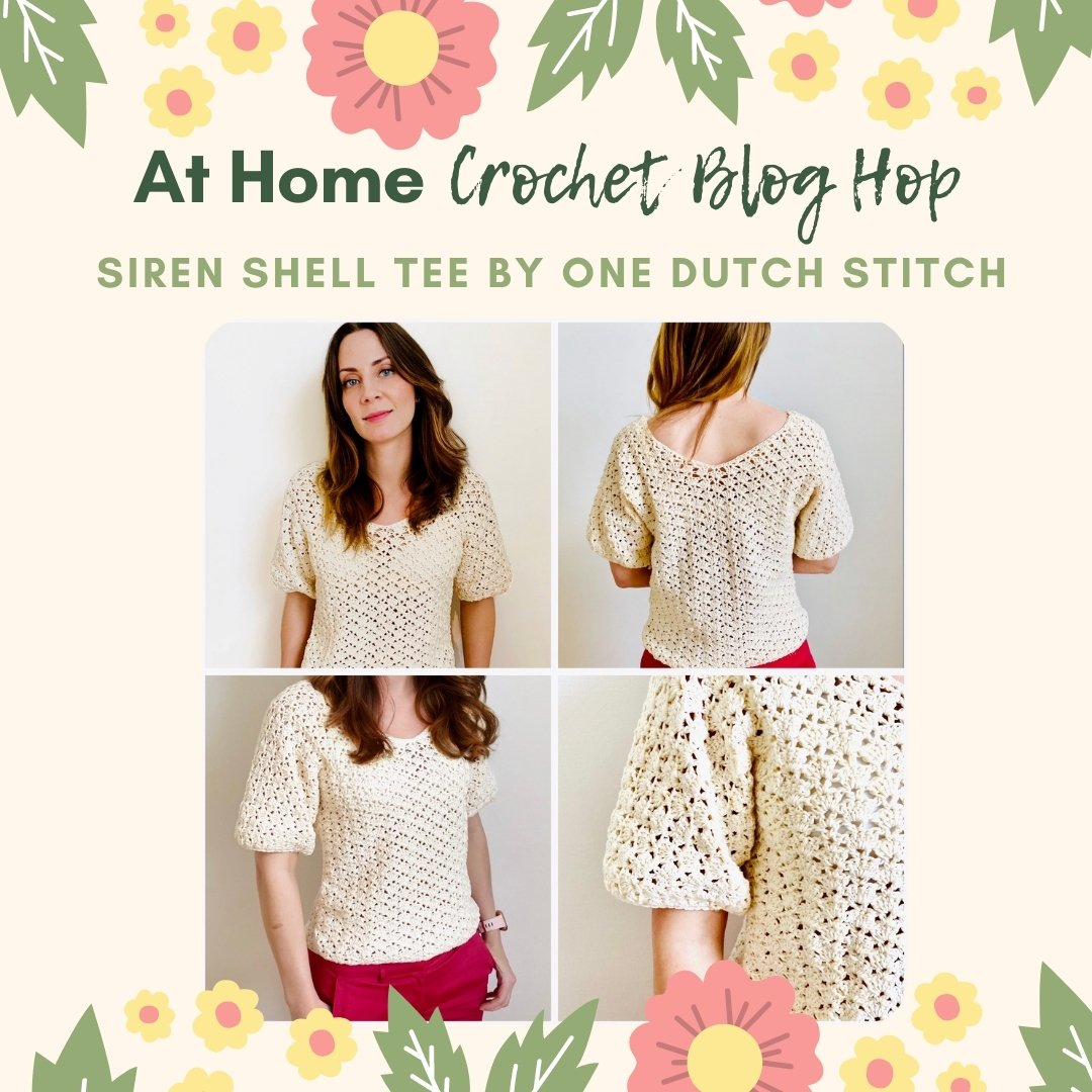 one dutch stitch siren shell crochet pullover