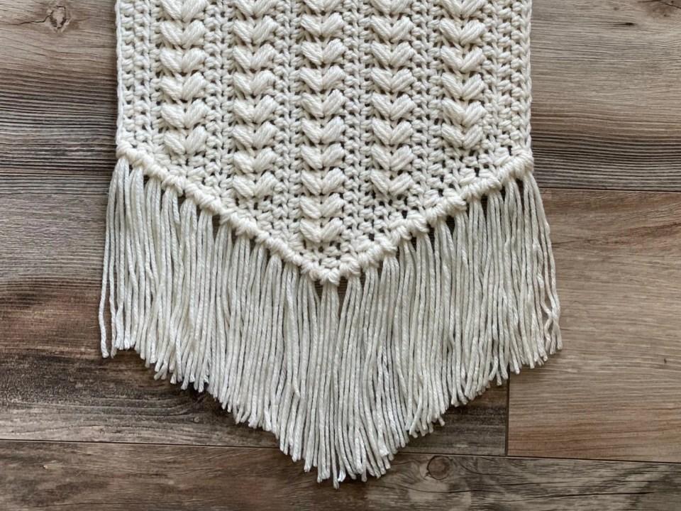 wheat heart wall hanging crochet pattern