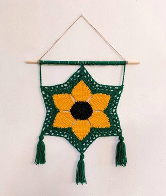 hook.hook.island savannah sunflower wall hanging