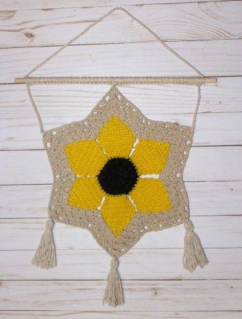 1318designswv savannah sunflower wall hanging