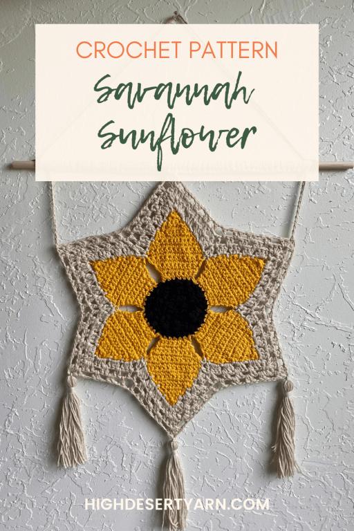 pinterest savannah sunflower wall hanging high desert yarn