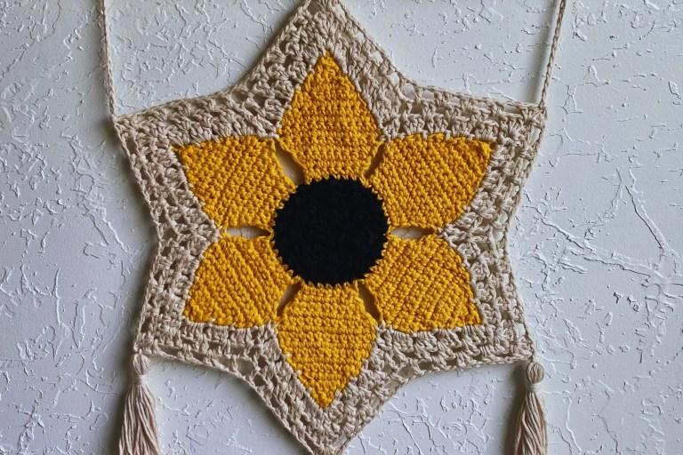 savannah sunflower wall hanging high desert yarn