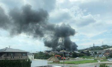 三重県三重郡朝日町 東芝三重工場 火事 火災
