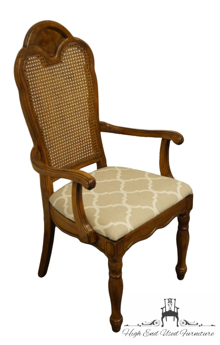 thomasville furniture decorum collection cane back dining arm chair 9161 861 862 high end used furniture