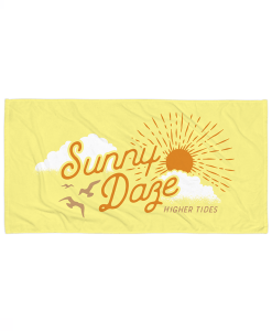 Sunny Daze Beach Towel Horizontal View