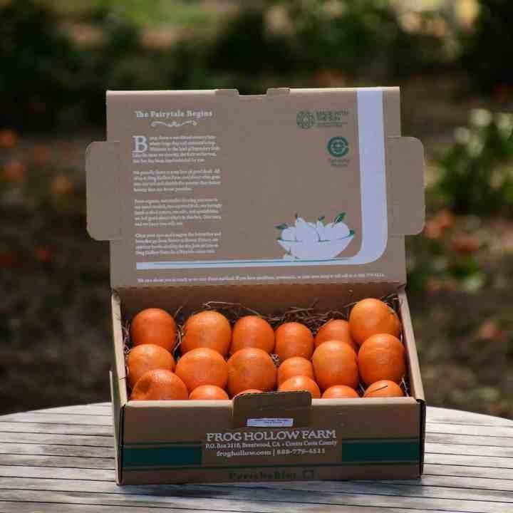 image of box of tango mandarins from frog hollow farm
